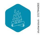 bonfire icon. outline... | Shutterstock .eps vector #1317846083