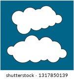 set of cloud icons in trendy... | Shutterstock .eps vector #1317850139