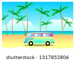 summer travel concept  vacation ... | Shutterstock .eps vector #1317852806