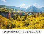 old big bridge durdevica. view... | Shutterstock . vector #1317876716