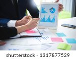 close up young business man and ... | Shutterstock . vector #1317877529