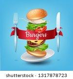 vector realistic illustration...   Shutterstock .eps vector #1317878723