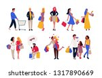 new set of people carrying... | Shutterstock .eps vector #1317890669
