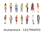 collection of young men and... | Shutterstock .eps vector #1317906953