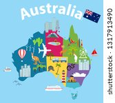 map of australia  tourist map... | Shutterstock .eps vector #1317913490