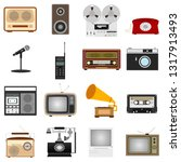 retro equipment. set of old... | Shutterstock .eps vector #1317913493