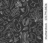 hand drawn seamless pattern... | Shutterstock .eps vector #1317913826