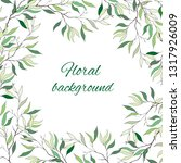 text frame with gentle green... | Shutterstock .eps vector #1317926009