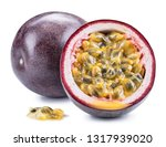 passion fruit and its cross... | Shutterstock . vector #1317939020
