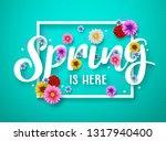 spring vector banner design.... | Shutterstock .eps vector #1317940400