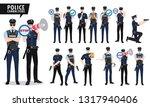 policeman vector character set. ... | Shutterstock .eps vector #1317940406