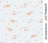 seamless pattern with small... | Shutterstock .eps vector #1317948659