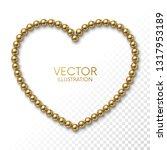 golden balls in the form of... | Shutterstock .eps vector #1317953189