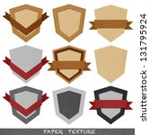 Paper Vintage Badge and Labels. - stock photo