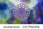 geometric design. colorful... | Shutterstock .eps vector #1317960356