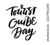 tourist guide day. vector... | Shutterstock .eps vector #1317961340