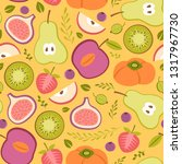 seamless patter with summer... | Shutterstock .eps vector #1317967730