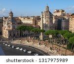 rome   italy  09 01 2018 ...   Shutterstock . vector #1317975989