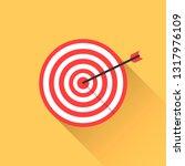 target hanging on wall arrow...   Shutterstock .eps vector #1317976109