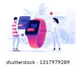 virtual relationships  online... | Shutterstock .eps vector #1317979289