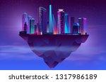 vector modern megapolis on... | Shutterstock .eps vector #1317986189