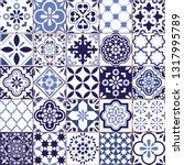 portuguese vector azulejo tile... | Shutterstock .eps vector #1317995789
