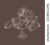 background with jambolan ... | Shutterstock .eps vector #1318011296