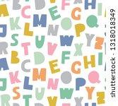 cutout abc seamless pattern.... | Shutterstock .eps vector #1318018349