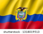 republic ecuador national flag. ... | Shutterstock .eps vector #1318019513