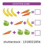 counting game for preschool... | Shutterstock .eps vector #1318021856