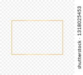 abstract gold rectangle frame...   Shutterstock .eps vector #1318025453