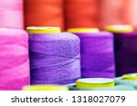 different color spools of... | Shutterstock . vector #1318027079