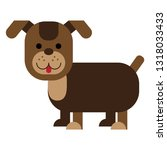 brown dog character | Shutterstock .eps vector #1318033433