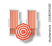 Orange Striped Sun Umbrella...
