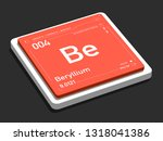 beryllium element symbol from... | Shutterstock . vector #1318041386