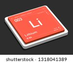 lithium element symbol from... | Shutterstock . vector #1318041389