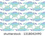 traditional chinese seamless... | Shutterstock .eps vector #1318042490