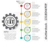 infographic template with steps ... | Shutterstock .eps vector #1318046909