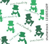 st. patrick's day seamless... | Shutterstock .eps vector #1318052609