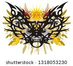 colorful butterfly splashes in... | Shutterstock .eps vector #1318053230