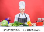 female in apron knows...   Shutterstock . vector #1318053623