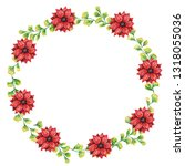 round shaped wreath made of... | Shutterstock . vector #1318055036
