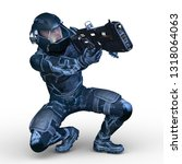 3d cg rendering of cyber man | Shutterstock . vector #1318064063