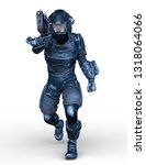3d cg rendering of cyber man | Shutterstock . vector #1318064066