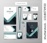 corporate identity template... | Shutterstock .eps vector #1318073933