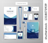 corporate identity template... | Shutterstock .eps vector #1318073939