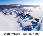 aerial view to biogas plant... | Shutterstock . vector #1318076480