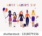 happy women's day   Shutterstock .eps vector #1318079156