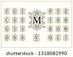 set of elegant capital letters. ... | Shutterstock .eps vector #1318082990
