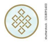 buddhist symbol  eternal knot    Shutterstock .eps vector #1318091603